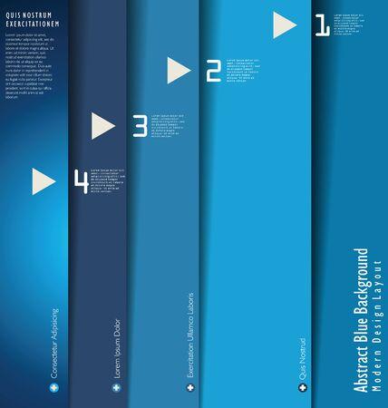 Modern blue Design template Vector