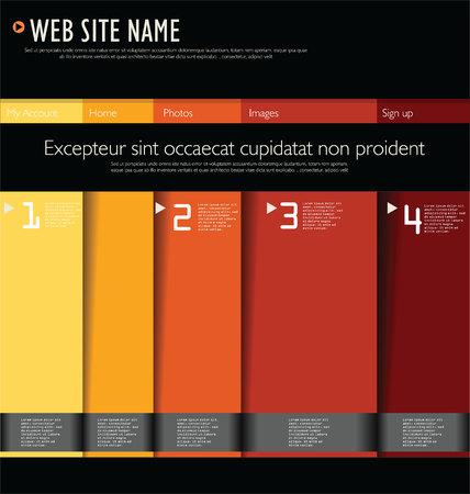 sidebar: Modern web site design Illustration