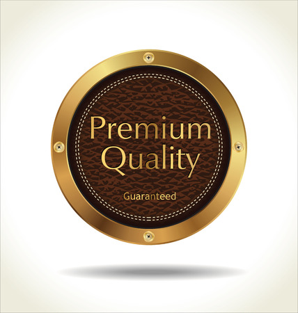 premium quality: Premium quality Leather badge  Illustration