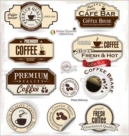coffee badges and labels Vector