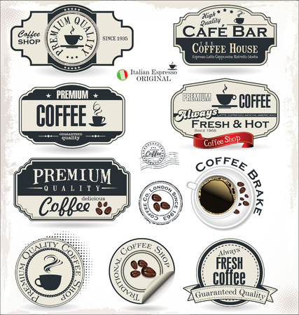 barista: coffee badges and labels Illustration