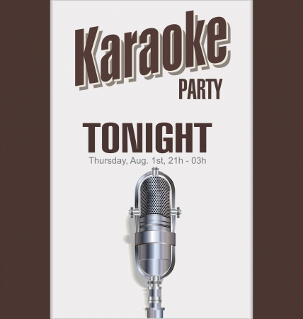 Karaoke background Stock Vector - 23197161