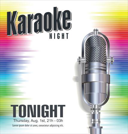 Karaoke kleurrijke achtergrond Stock Illustratie