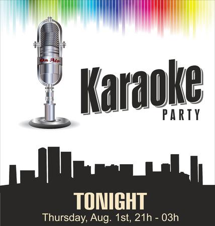 Karaoke fond coloré Banque d'images - 23198124