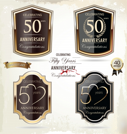50 years jubilee: 50 years anniversary golden label