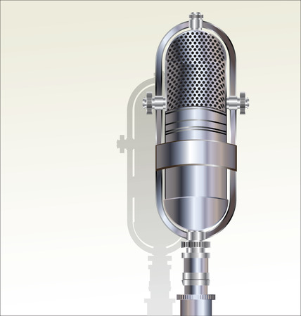 microphone retro: Retro microphone  Illustration