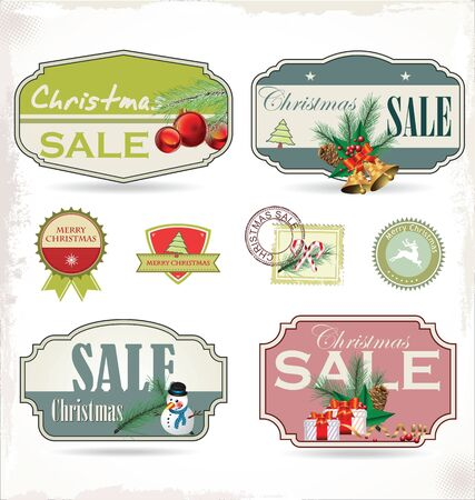 A set of Christmas design elements Vector