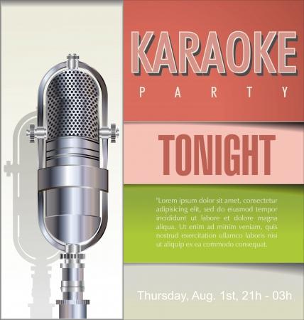 live entertainment: Karaoke party background  Illustration