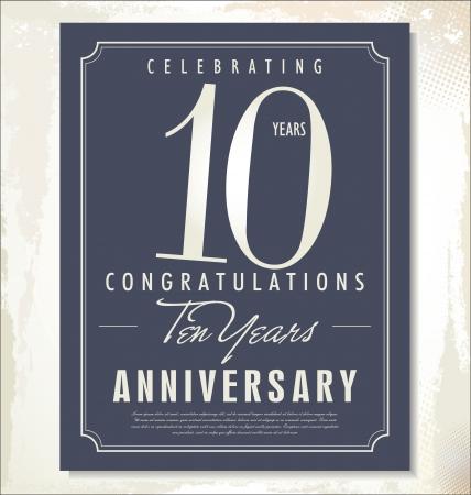10th: anniversary background