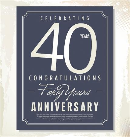 40: anniversary background