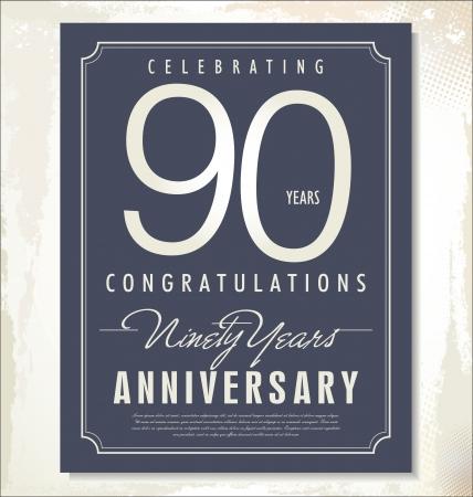 90th: anniversary background