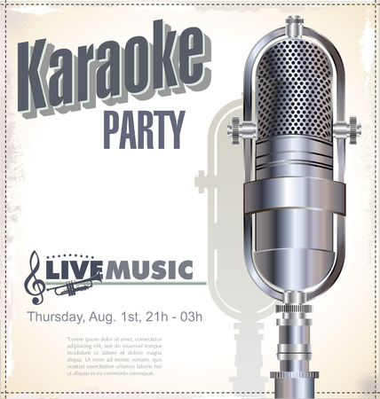 karaoke: Karaoke party background  Illustration