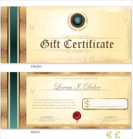 coupon template: Voucher, Gift certificate, Coupon template Illustration