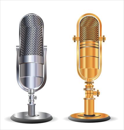 microfono antiguo: micrófono viejo Vectores
