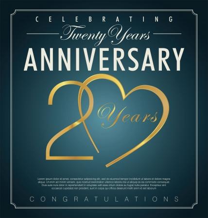 20 years anniversary background  Stock Vector - 23488191