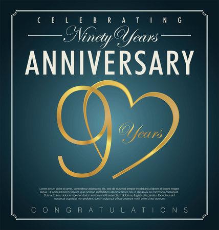 90 years: 90 anni di sfondo anniversario