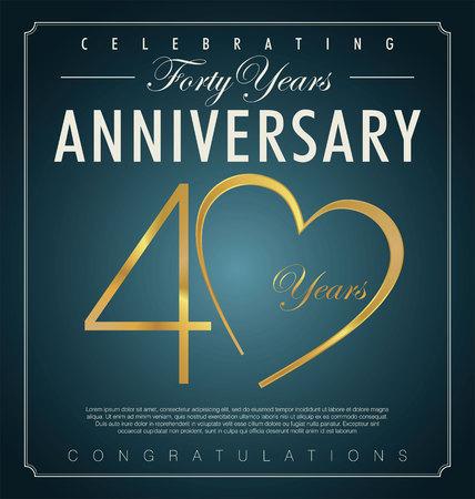 40: 40 years anniversary background