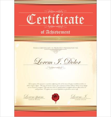 certificate frame: Certificate template Illustration