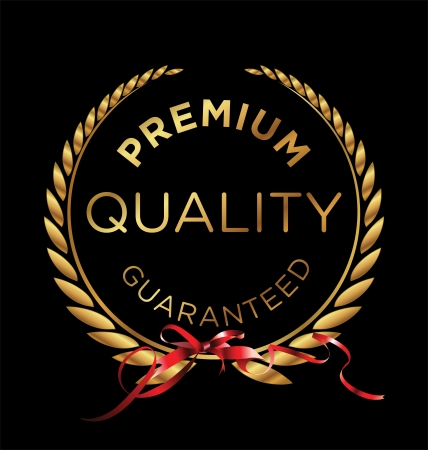 quality seal: Premium quality laurel wreath