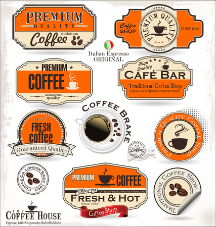 Coffee labels and badges Vector