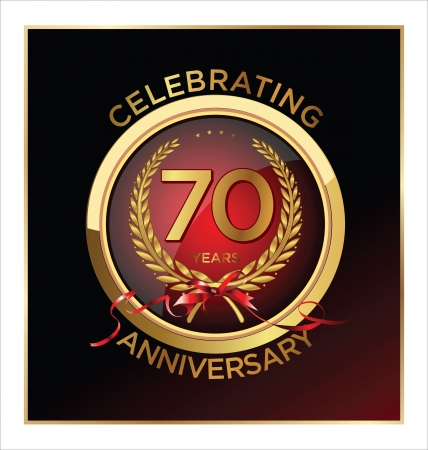 70 years Anniversary label  Vector