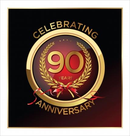 90 years: Etichetta di 90 anni di anniversario