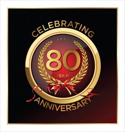 80 years: 80 years Anniversary label
