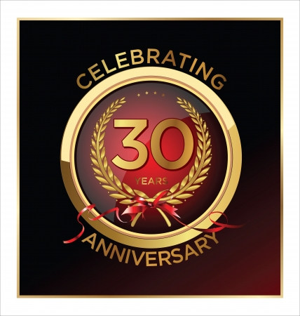 30 years Anniversary label  Illustration
