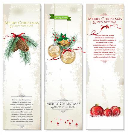 Set of three Christmas banners Illustration