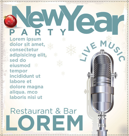 New Year party poster Vector