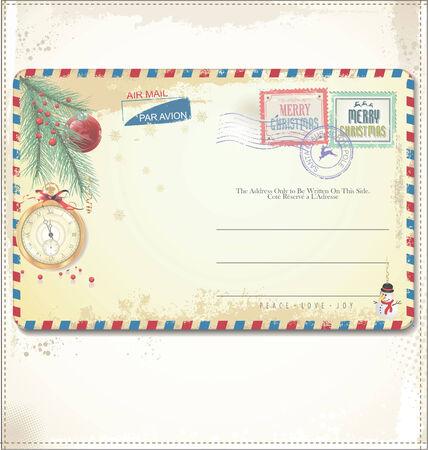 Carte postale vintage de Noël
