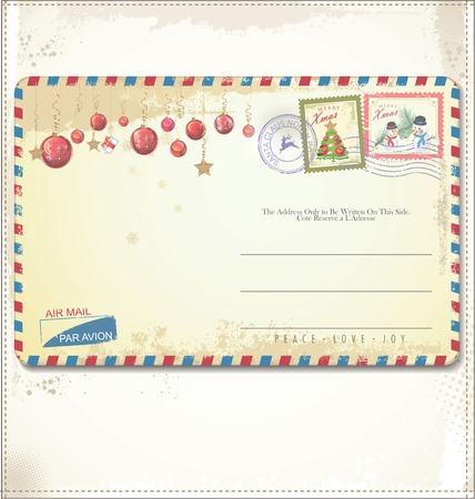 love letters: Vintage Christmas post card