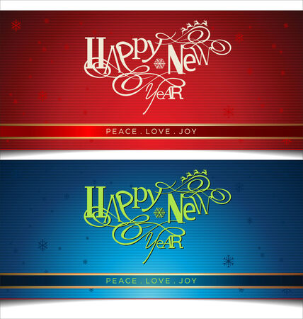 Happy New Year lettering Greeting Card Stock Vector - 24183017