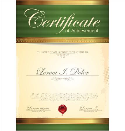 Green certificate template Stock Vector - 24248360