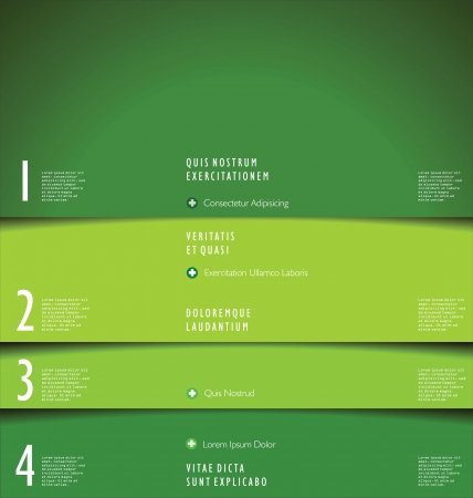 Modern green design template Vector