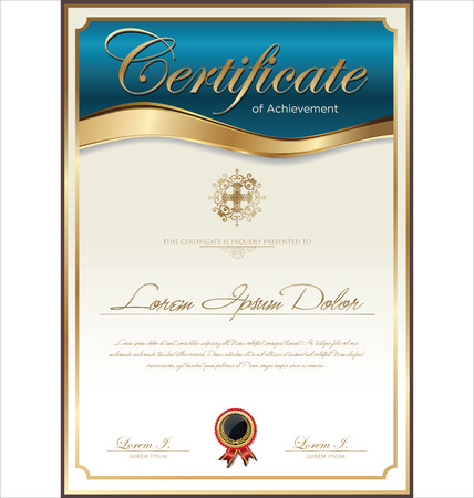 diploma template: Certificate template