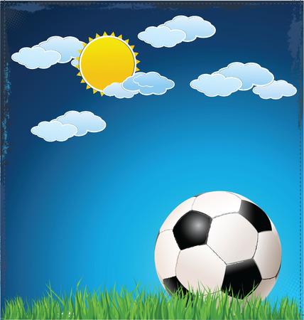 Soccer background Stock Vector - 24373209