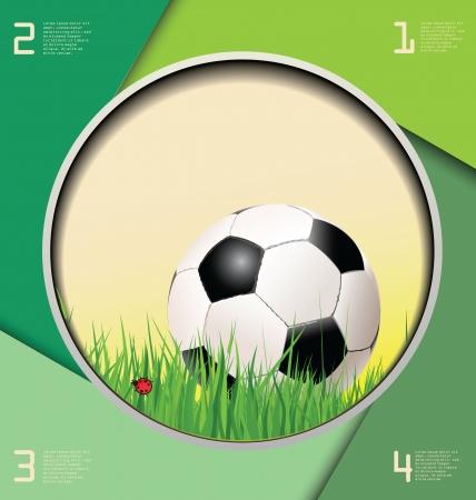 sporting: Soccer background Illustration
