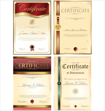 Certificate template set Illustration