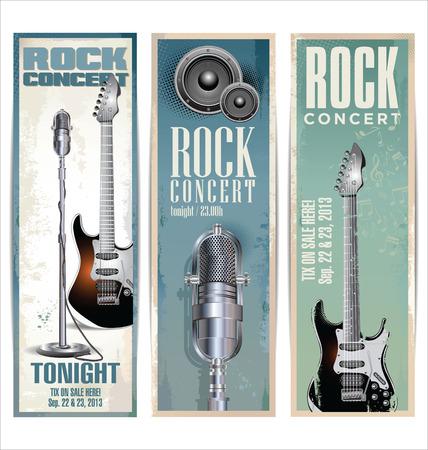 Rock-Konzert-Plakat Standard-Bild - 24373228
