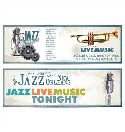 fanfare: Jazz retro background