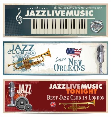 Jazz retro background Vector
