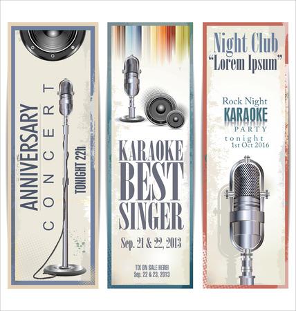 voices: Karaoke party banner, set