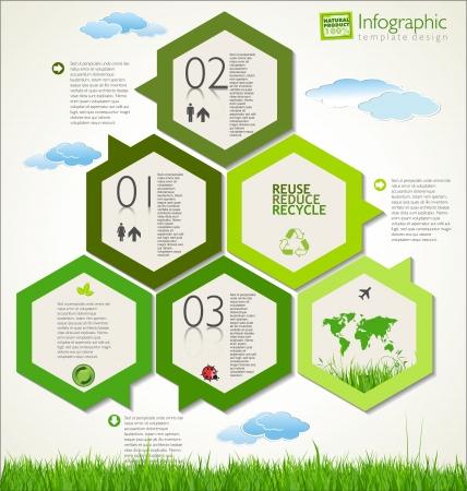 sfondo natura: Moderno layout di disegno ecologia
