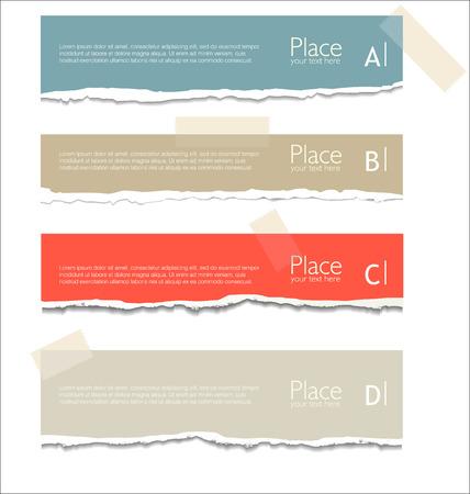 for text: Strappato sfondo di carta con lo spazio per il testo