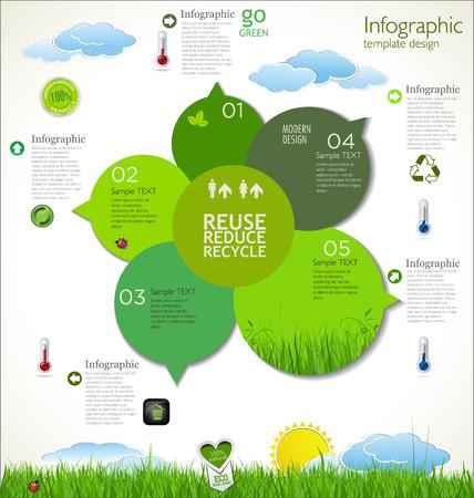 주형: 현대 생태 디자인 레이아웃 일러스트