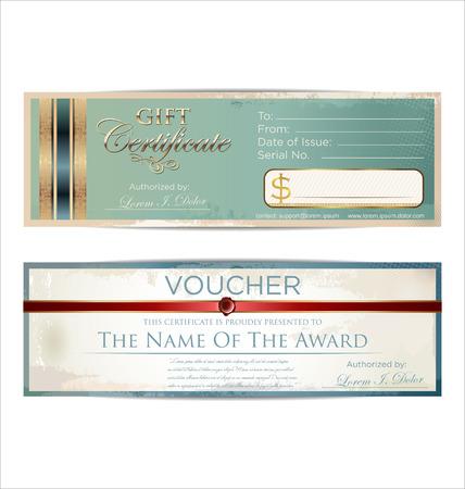 bank check: Voucher template Illustration