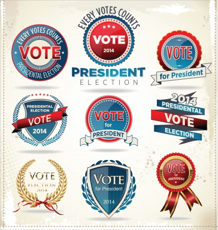 voter: Election badges and labels