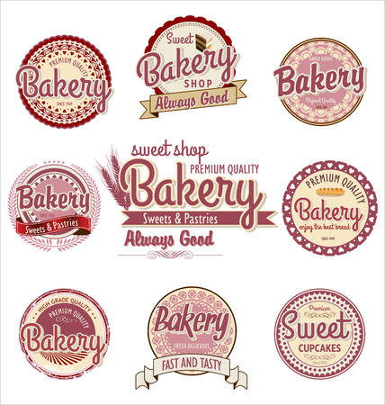 Retro Bakery Badges And Labels Stock Vector - 24752490