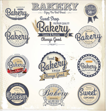 Retro Bakery Badges And Labels Stock Vector - 24755152